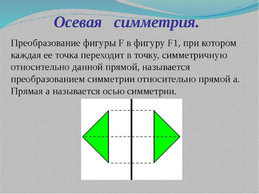Преобразование фигуры F в фигуру F1, при котором каждая ее точка переходит в ...