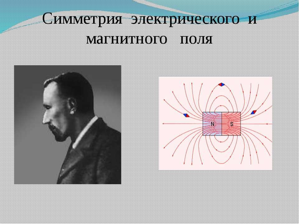 Симметрия электрического и магнитного поля