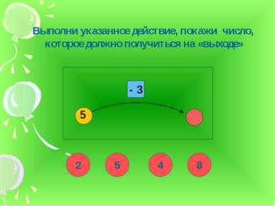 Выполни указанное действие, покажи число, которое должно получиться на «выход...