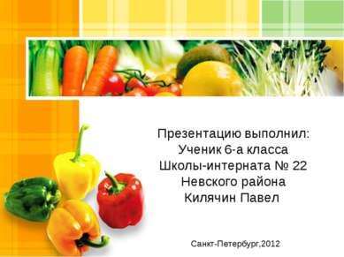 Санкт-Петербург,2012 Презентацию выполнил: Ученик 6-а класса Школы-интерната ...