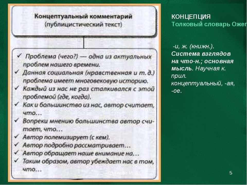 КОНЦЕПЦИЯ Толковый словарь Ожегова -и, ж. (книжн.). Система взглядов на что-н...