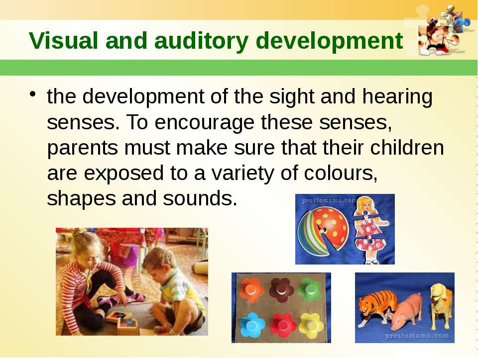 Visual and auditory development the development of the sight and hearing sens...