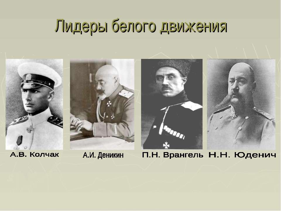 Лидеры белого движения