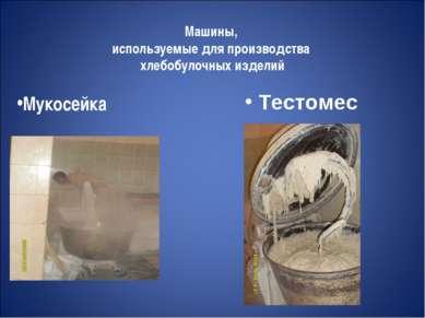 Машины, используемые для производства хлебобулочных изделий Мукосейка Тестомес