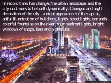 In record time, has changed the urban landscape, and the city continues to be...