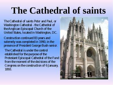 The Cathedral of saints The Cathedral of saints Peter and Paul, or Washington...