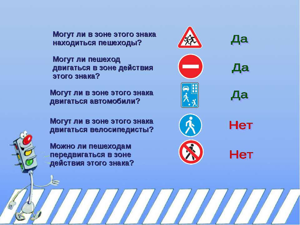 Могут ли в зоне этого знака находиться пешеходы? Могут ли пешеход двигаться в...