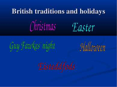 British traditions and holidays