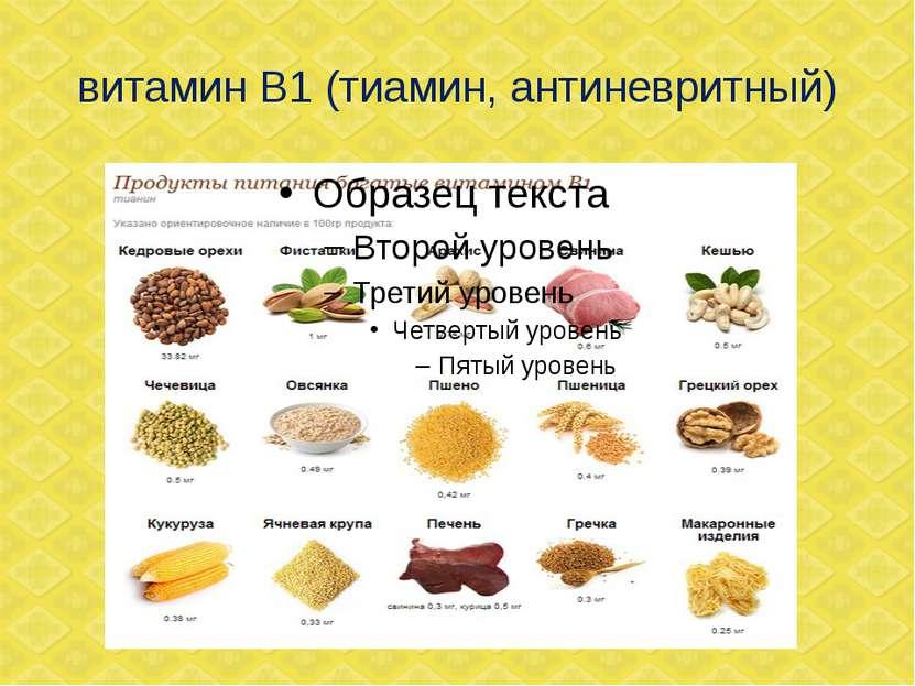 витамин В1 (тиамин, антиневритный)
