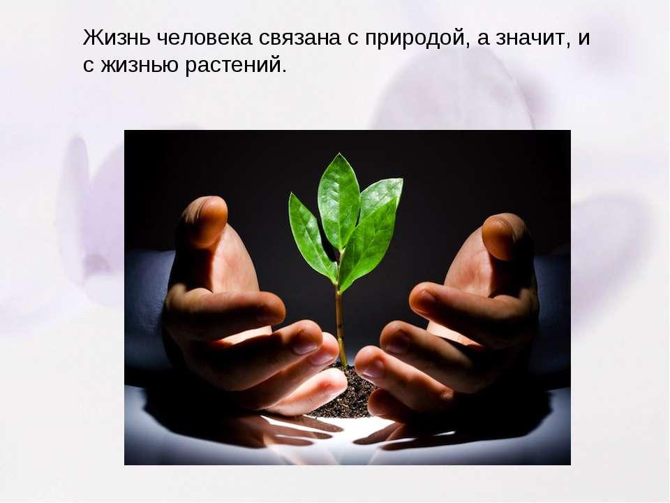 Жизнь человека связана с природой, а значит, и с жизнью растений.