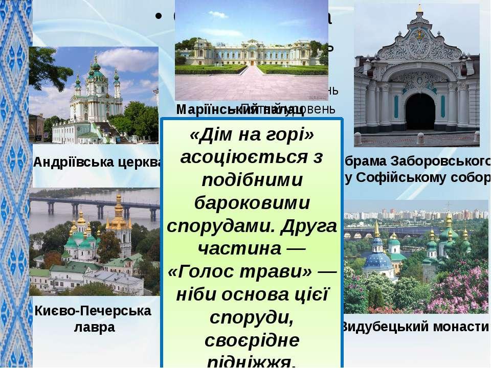 Андрiївська церква Маріїнський палац брама Заборовського у Софійському соборі...