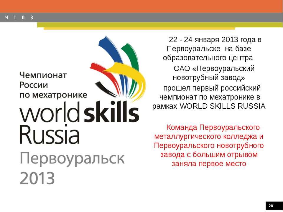 22 - 24 января 2013 года в Первоуральске на базе образовательного центра ОАО ...