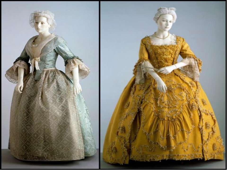 Женская одежда рококо