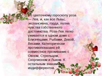 По цветочному гороскопу роза — Лев, и, как все Львы, экспансивна, горда, полн...