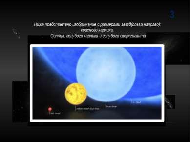 3 Ниже представлено изображение с размерами звезд(слева направо): красного ка...
