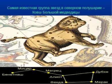 Самая известная группа звезд в северном полушарии – Ковш Большой медведицы
