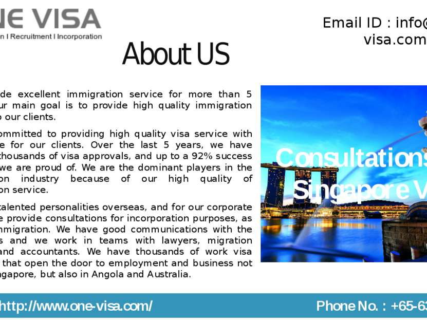 About US We provide excellent immigration service for more than 5 years. Our ...