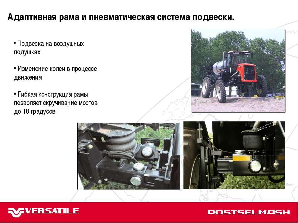 JD 9030 АТМ Terrion JD 8000 Case IH MX Подвеска на воздушных подушках Изменен...