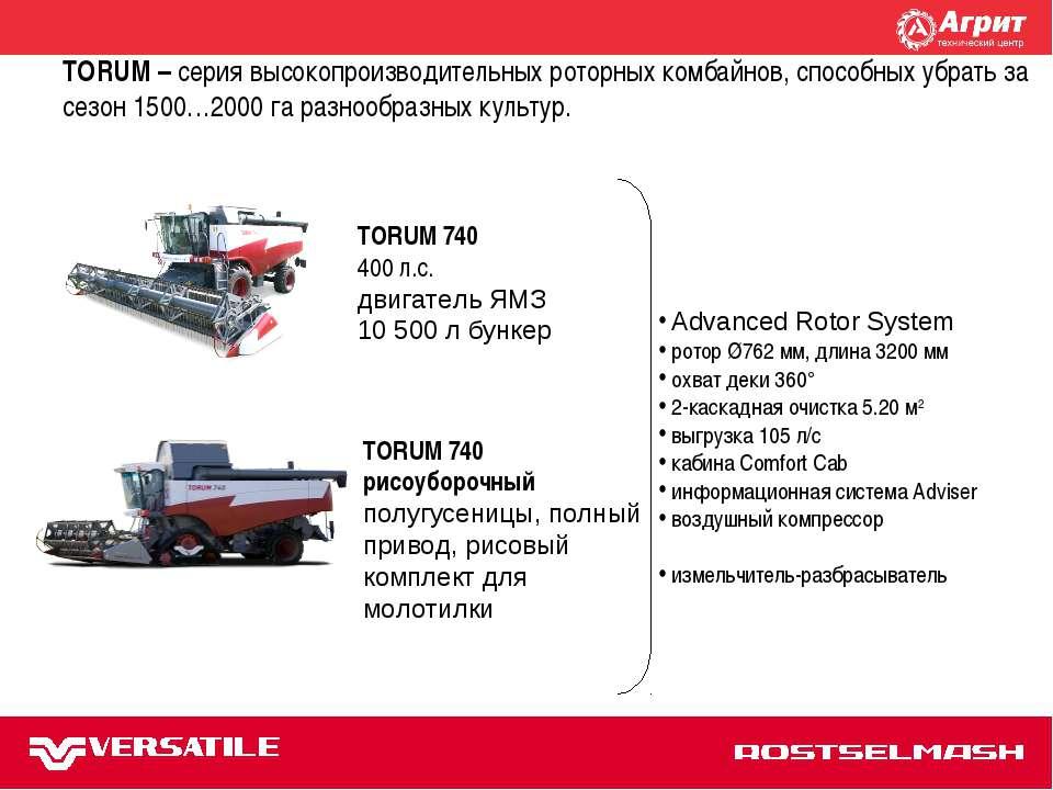 TORUM 740 Advanced Rotor System ротор Ø762 мм, длина 3200 мм охват деки 360° ...