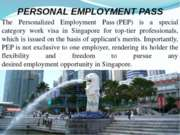 Singapore Personal Employment Pass