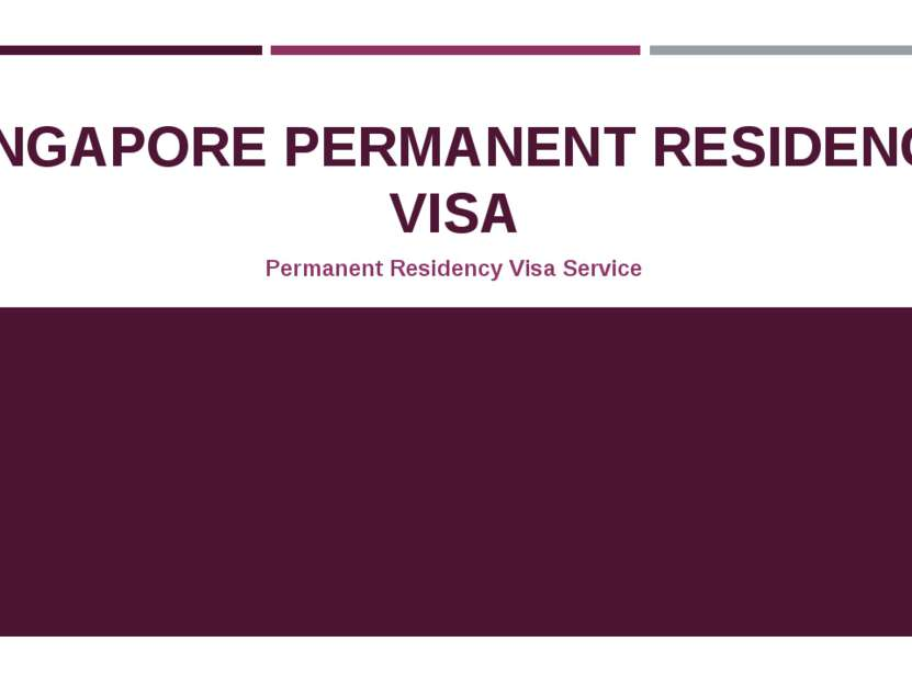 SINGAPORE PERMANENT RESIDENCY VISA Permanent Residency Visa Service