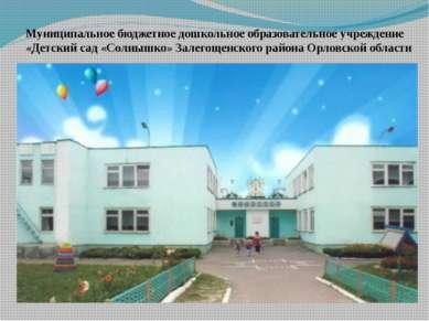 Муниципальное бюджетное дошкольное образовательное учреждение «Детский сад «С...