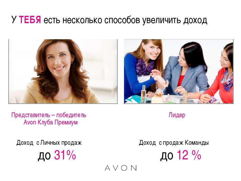 У ТЕБЯ есть несколько способов увеличить доход Представитель – победитель Avo...