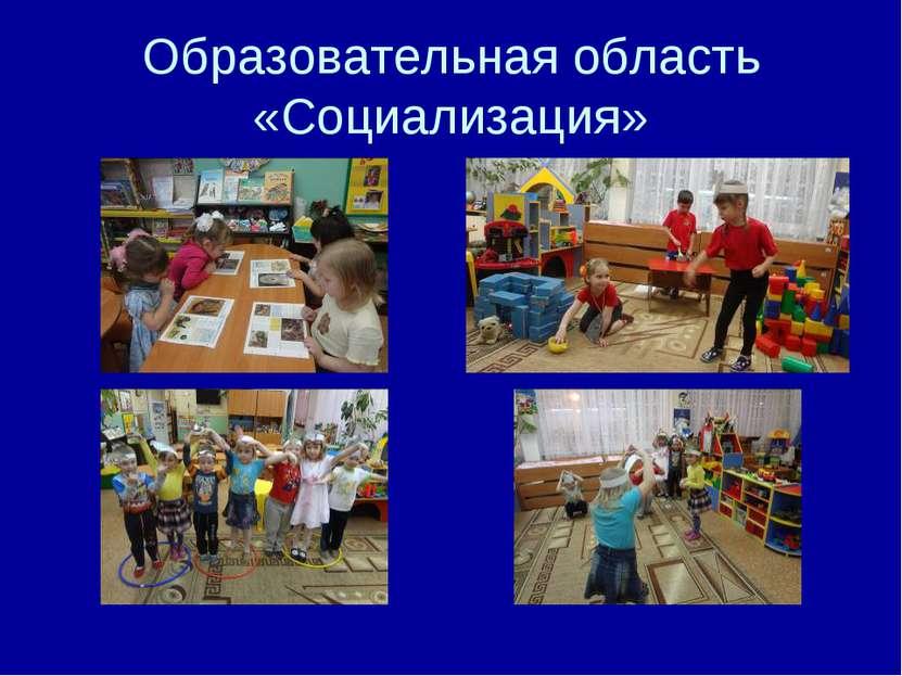 Образовательная область «Социализация»