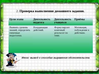 2. Проверка выполнения домашнего задания.   Итог: вывод о способах выражени...