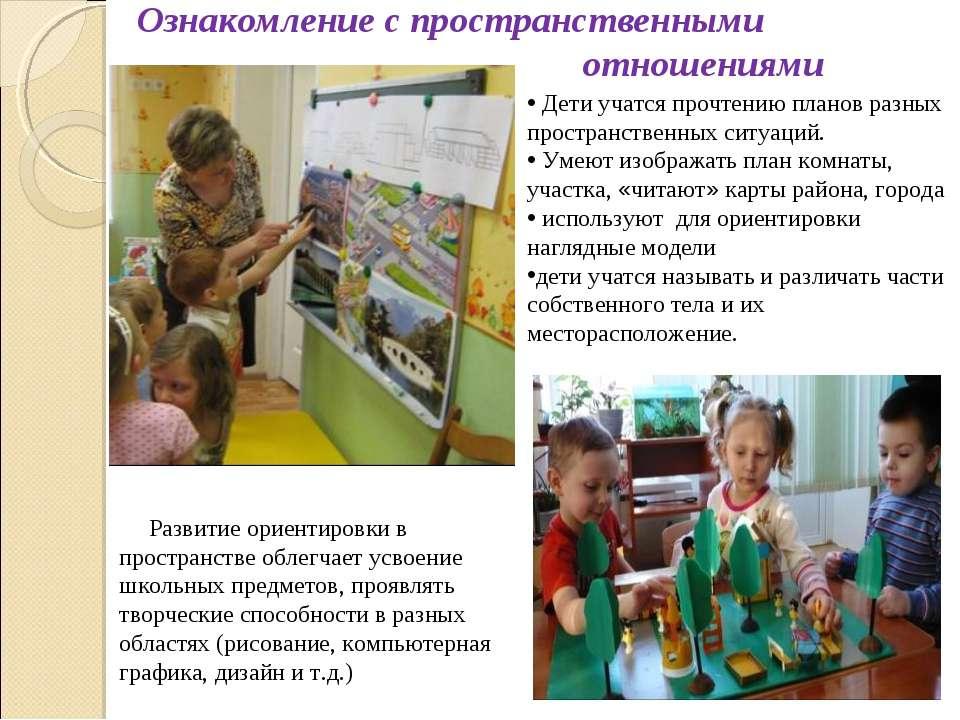 Дети учатся прочтению планов разных пространственных ситуаций. Умеют изобража...
