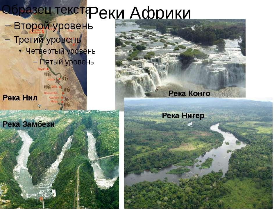 Реки Африки Нил Конго Река Нил Река Конго Река Замбези Река Нигер