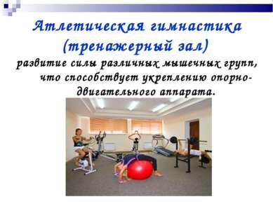 Атлетическая гимнастика (тренажерный зал) развитие силы различных мышечных гр...