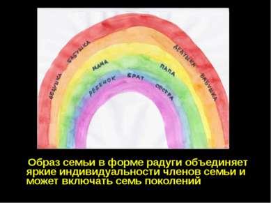 Образ семьи в форме радуги объединяет яркие индивидуальности членов семьи и м...