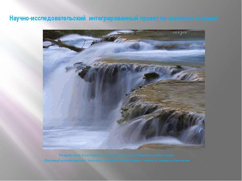 Научно-исследовательский интегрированный проект по экологии и химии Разработа...