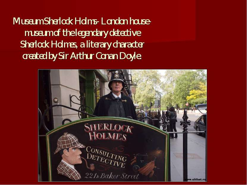 Museum Sherlock Holms- London house-museum of the legendary detective Sherloc...