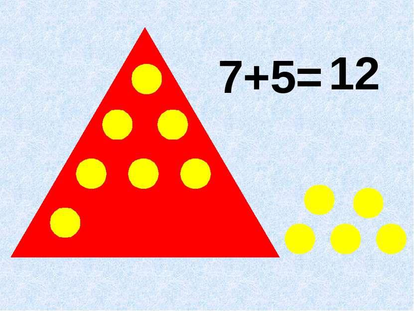 7+5= 12
