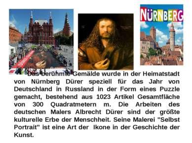Das berühmte Gemälde wurde in der Heimatstadt von Nürnberg Dürer speziell für...
