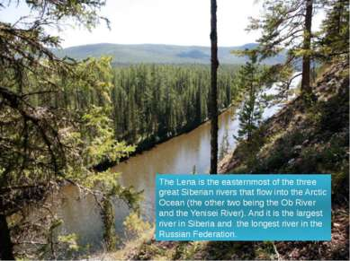 The Lena is the easternmost of the three great Siberian rivers that flow into...