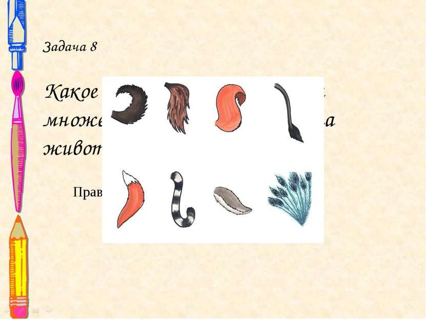 Задача 8 Какое слово может означать и множество людей, и часть тела животного...
