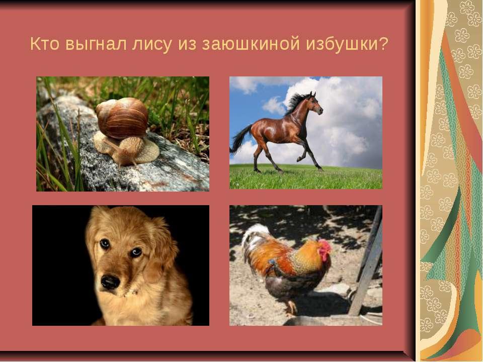 Кто выгнал лису из заюшкиной избушки?
