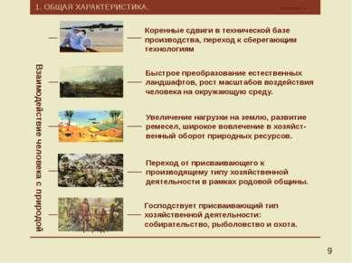 1. ОБЩАЯ ХАРАКТЕРИСТИКА. Калмыков Г.А. 9 Взаимодействие человека с природой П...