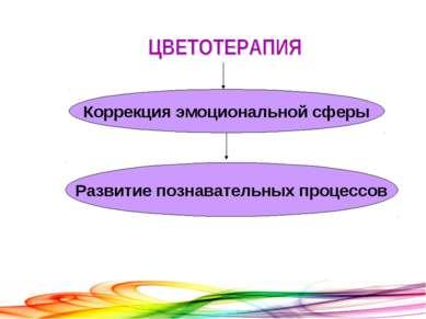 Коррекция эмоциональной сферы Развитие познавательных процессов