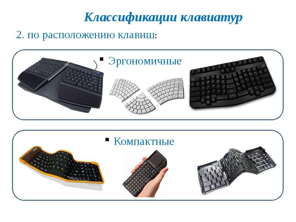 Классификации клавиатур 3. по функциональности: Мультимедийные и игровые Вирт...