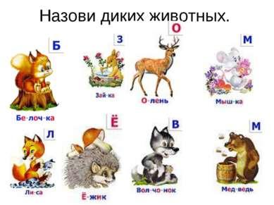 Назови диких животных.