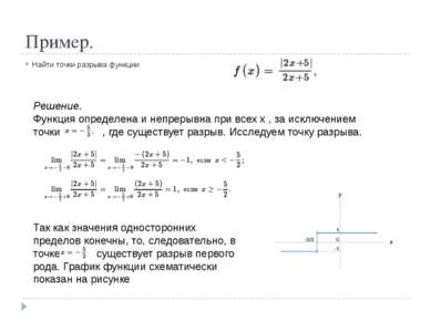Построение графиков функции с разрывом в Excel Построить график функции , где...