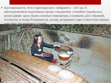Протяженность этого партизанского лабиринта – 187 км. В многоуровневом подзем...