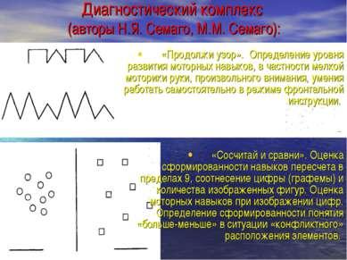 Диагностический комплекс (авторы Н.Я. Семаго, М.М. Семаго): «Продолжи узор». ...