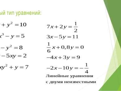 Новый тип уравнений: