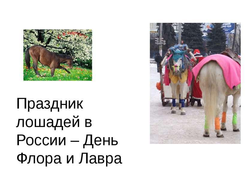 Праздник лошадей в России – День Флора и Лавра