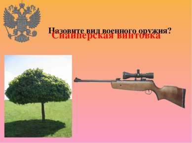 Назовите вид военного оружия? Снайперская винтовка